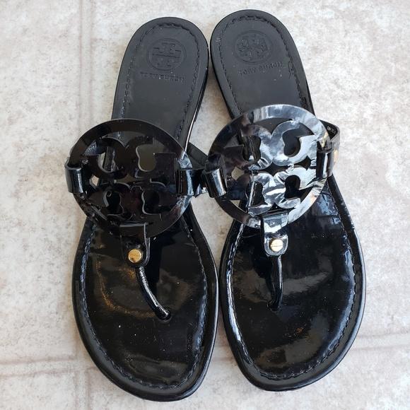 bd46950073079 Tory Burch Black Patent Leather Miller Size 10. M 5c47ec370cb5aad607d5aa7e